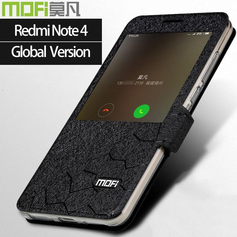 Global versão xiaomi redmi nota 4 do caso da aleta inteligente xiaomi cobertura caso de telefone mofi redmi nota4 caso redmi nota 4X global versão