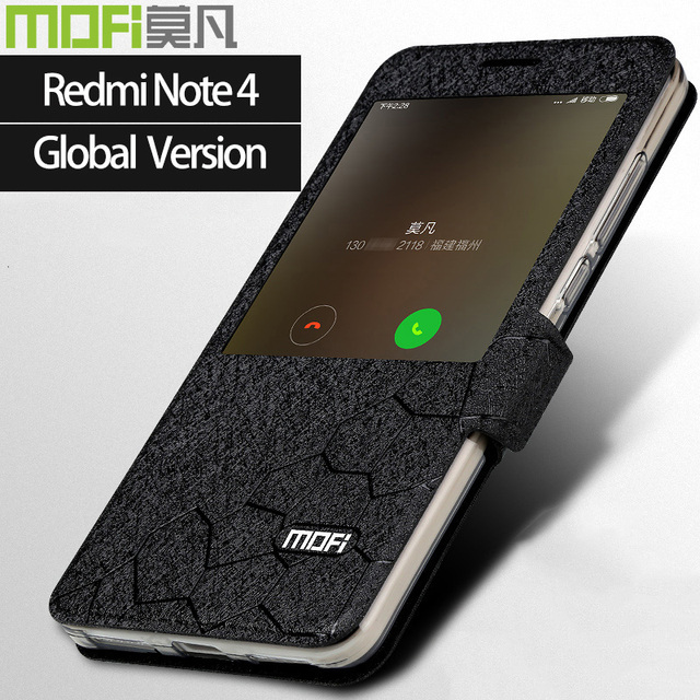 the best attitude 71f75 10cf5 US $10.49 |global version xiaomi redmi note 4 case smart flip xiaomi cover  mofi case redmi note4 global version case xiomi redmi note4 case-in Flip ...