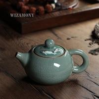 Chinese Goldfish Crackle Glaze 190ML Longquan Celadon Zisha Ceramics Arts China Teapot Porcelain yixing Clay Antique Teapot