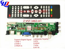 Z.VST.3463.A1 DS.D3663LUA.AOnly Control Board Support Digital Signal DVB-C DVB-T/T2 Better than V56 Support Russian Language LCD