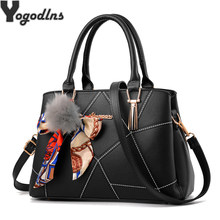 Nouvelle marée femmes Messenger sac femme Top-poignée sac à main Patchwork sac à bandoulière cheveux balle Crossbody sacs dames ruban fête Pack(China)