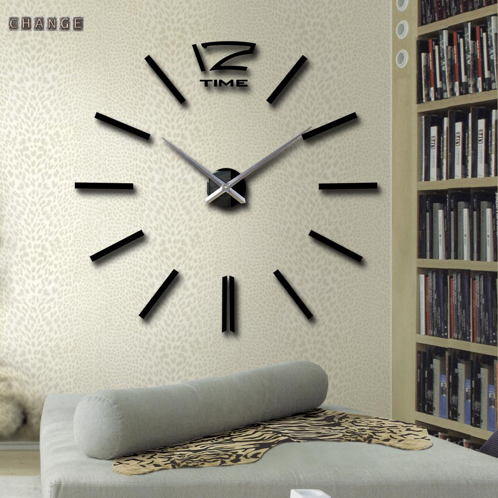 12 Time Wall Clocks Big Digital Needle Clock Birthday Gift 3D DIY Stickers Watch Metal - Yiwu International Trade Co., LTD store