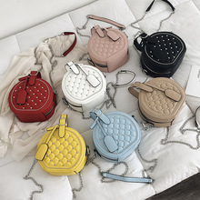 Small round Crossbody Messenger Bags for Women handbags 2019 Fashion Lingge rivet chain shoulder bags female Casual totes Purses