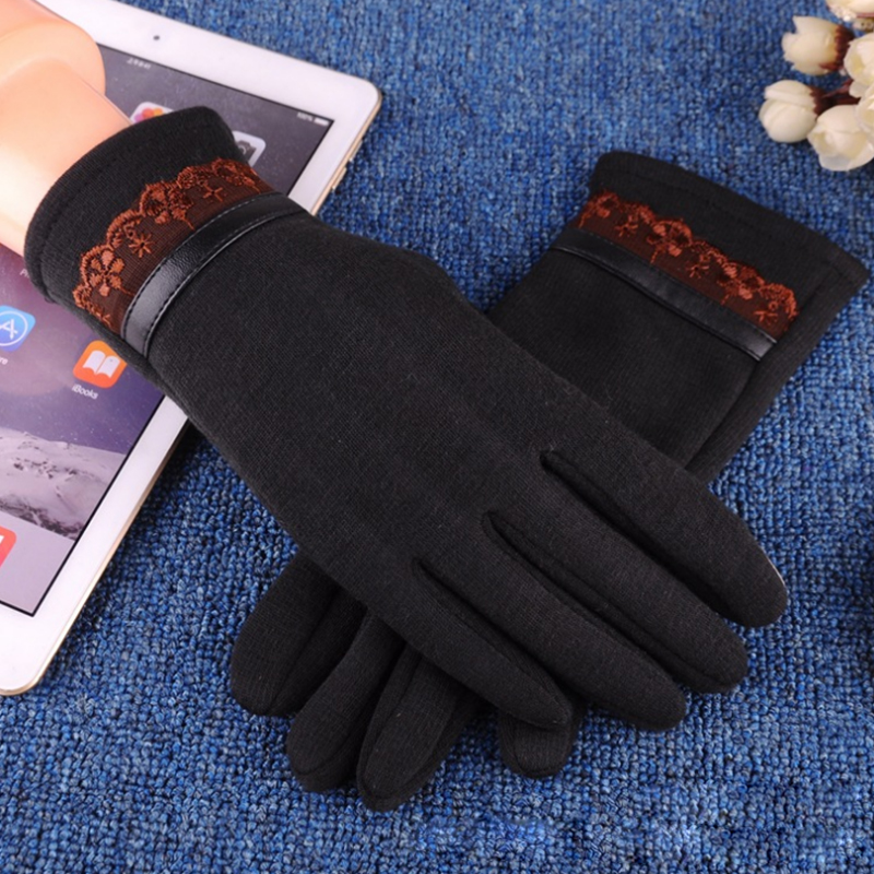 NAIVEROO Waterproof and Warm Touch Screen Gloves made of PU Leather and Conductive Fibers for Women Suitable for Spring and Winter 47
