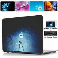 Druck Harte Fall Shell Tastatur Abdeckung Haut Für Apple Macbook Pro 13 15 16 zoll Air Touchbar Retina 11 12 13 zoll laptop fall
