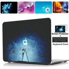 Afdrukken Hard Case Shell Toetsenbord Cover Skin Voor Apple Macbook Pro 13 15 16 inch Air Touchbar Retina 11 12 13 inch laptop case(China)