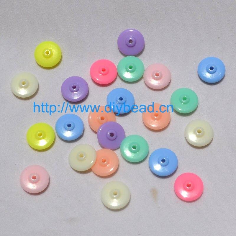 Doreen perles en plastique à Coudre Tige Boutons Rond Clair Transparent 10 mm