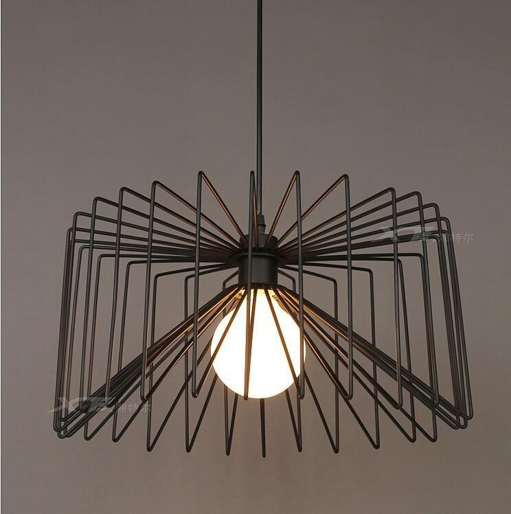 Modern pendant light iron cage pendant lamp restaurant bar LED light fixtureModern pendant light iron cage pendant lamp restaurant bar LED light fixture