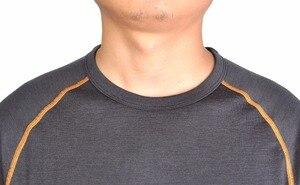 Image 3 - Camisa de manga larga para 100% de lana Agujeros de pulgar