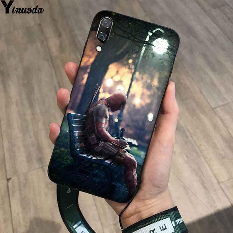 MaiYaCa SuperMan de hierro hombre Deadpool hero negro Funda del teléfono para Huawei P20Lite P10 más Mate10Lite Mate20 P20 Pro Honor10 View10