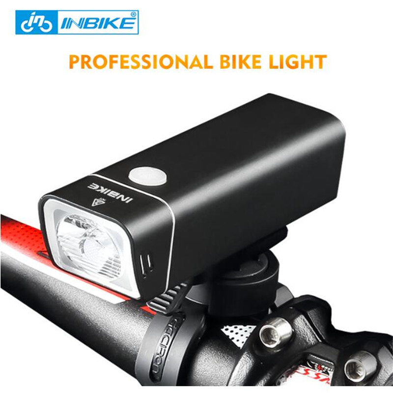 INBIKE 2017 New Usb Rechargeable Bike Light Front Handlebar Cycling Led Light Flashlight Torch Headlight Bicycle Accessories bike cycling light 3 modes usb rechargeable led bike bicycle cycling light headlight lamp torch for bike a1