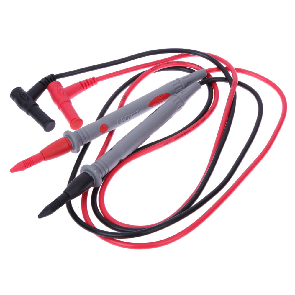 купить 1 Pair Universal Probe Test Leads 20A 1000V Needle Tip Multi Meter Digital Multimeter Lead Probe Wire Pen Cable по цене 125.8 рублей