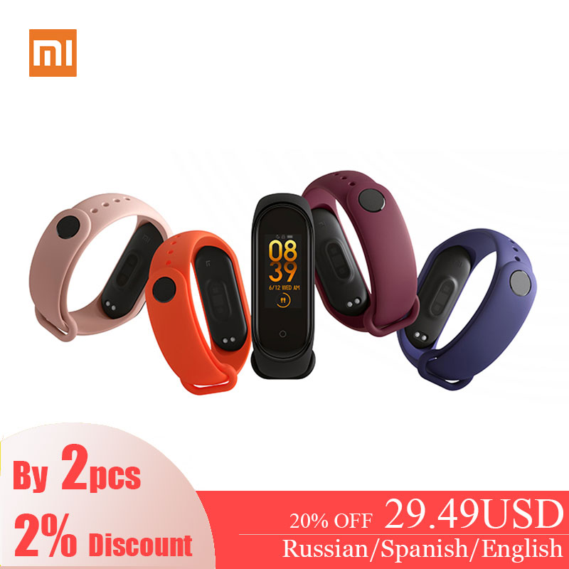 Xiaomi Mi Band 4 Original 2019 Music Smart Miband 4 Bracelet Heart Rate Fitness