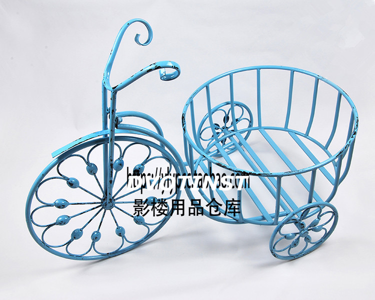 Dvotinst Newborn Baby Photography Props Iron Tricycle Bed  Basket Fotografia Accessories Infant Studio Shooting Photo Props