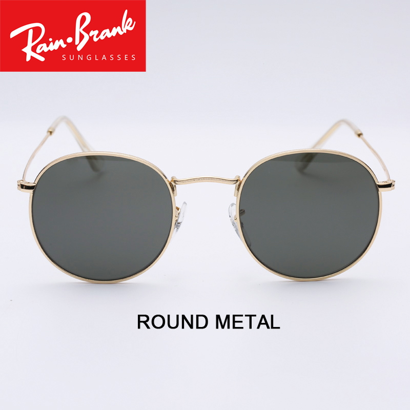 Round Metal Sunglasses design for women man UV400 sun glasses lenses model 3447 for male female Shades culos de sol all packages