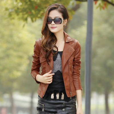 Compare Prices on Brown Leather Bomber- Online Shopping/Buy Low