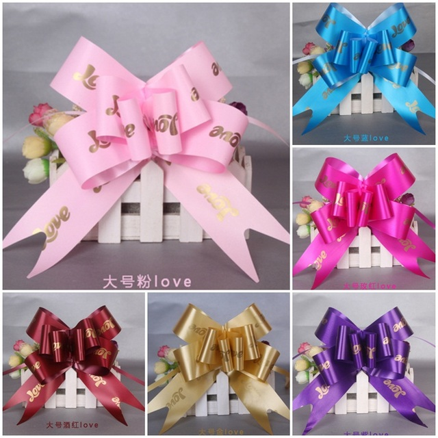 50pcs Large Size 4 5cm Width Diy Love Pull Bow Ribbons Christmas