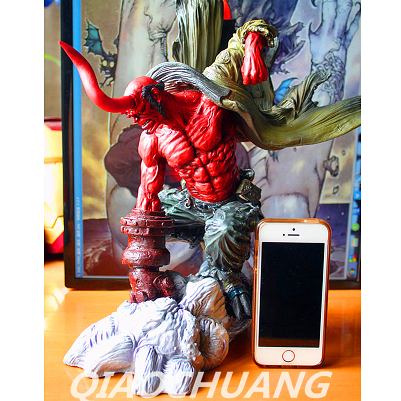 Statue Superhero HELLBOY Bust 1:4 Anung Un Rama Imitation Copper Full-Length Portrait Resin Action Figure Collectible Model Toy statue avengers superhero hulk 1 4 bust robert bruce banner full length portrait resin imitation iron collectible model toy w248