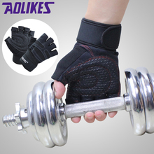 AOLIKES 1 Pair Body Building Training Fitness WeightLifting Gloves & Mittens For Men Women Workout Fitness Exercise Gym Gloves