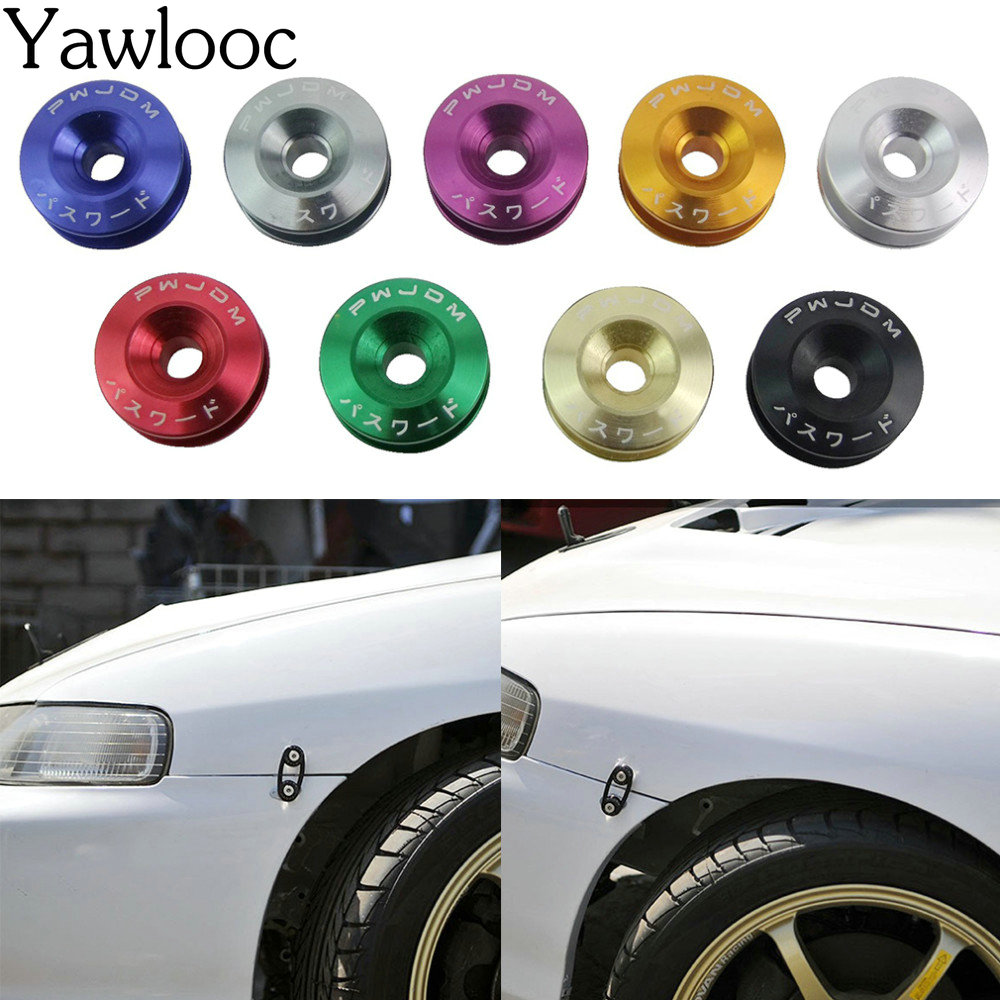 YawlooC New Car Quick Release Fasteners Ideal For Front Bumpers Rear Bumpers Surrounds Reinforcement Ring With JDM Logo
