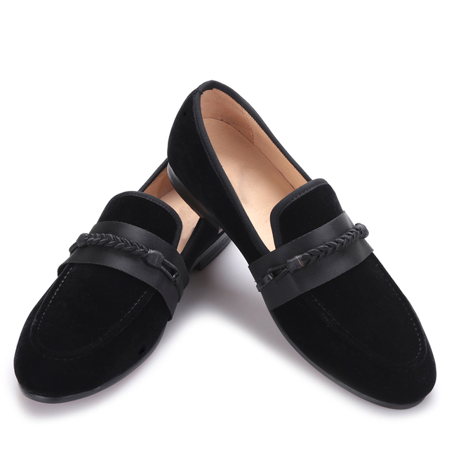 le dernier soldes 100% de haute qualité € 88.14 21% de réduction|2017 nouveaux hommes chaussures en velours avec  tissage à la main corde fête et mariage hommes chaussures habillées hommes  ...