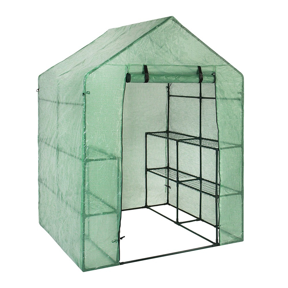 Portable Plastic Garden Greenhouse Cover  For 2 Layer Mini Walk In Greenhouse Outdoor Protect Plants Flowers  no Iron Stand