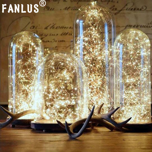 Fanlus Fairy Lights Battery Operated String Outdoor 9 8ft30led Copper Small Le
