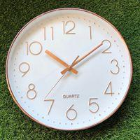 Minimalista E moderno de Vidro Redonda Relógio de Parede Mudo Decoração Nordic Grande Espelho Relógio de Parede Criativo Relógio Home Wanduhr 50w031|Rel. parede| |  -