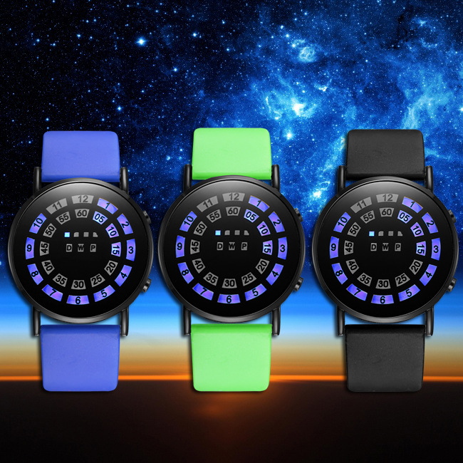 The latest version of ultra-thin LED mirror to watch fashion ideas LED watch Spider web ball type ultra thin watch male student korean version of the simple fashion trend fashion watch waterproof leather watch men s watch quar
