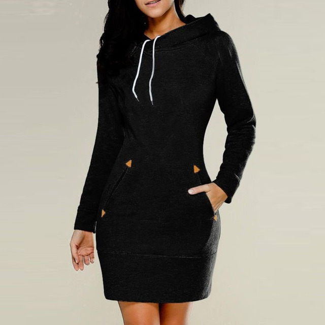 Women's Autumn Hooded Casual Comfort Dress