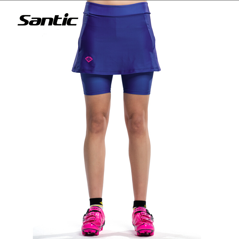 2019 New Santic Design Cycling Shorts Women Culotte 4D Padded Breathable Road MTB Bike Sport Skirt Tights Free Shipping