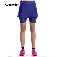 2017 New Santic Design Cycling Shorts Women Culotte 4D Padded Breathable Road MTB bike Sport Skirt Tights Free shipping