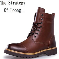 British Retro Martin Boots Men S Leather Boots Tooling Boots Boots High Tide To Help Tide