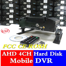4 way hard disk car video recorder uses H.264 compressed video  720P high-definition picture pixels