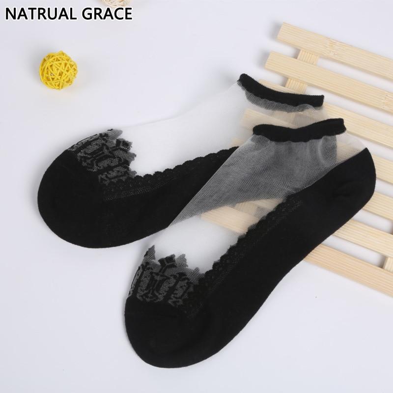 3 Pairs font b Sock b font font b Slipper b font Lace Material Anti skidding