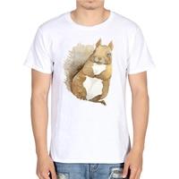 Harajuku Anime Chipmunk Fox TShirt Men's Dog Tops Hipster Tees Off White Men Funny Cotton T Shirts Fashion Summer Clothes 2018