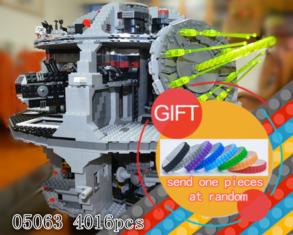 05063 4016pcs Genuine Star and Wars Force Waken UCS Death Star Building blocks brick Gifts compatible 75159 Toys lepin new lepin 05063 4016pcs star wars series death star building block bricks toys kits compatible legoed with 75159