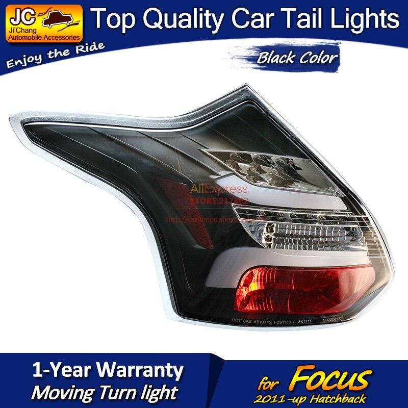 Для Ford Hatchback Focus черный корпус светодиодный задний фонарь в сборе подходит для автомобилей на 2011 год с последовательным индикатором простая ... - 3
