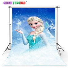 SHENGYONGBAO Vinyl Custom Photography Backdrops Prop Digital Printed  ice theme Background NBX-4015