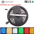 1pc DC12V led strip 5050 5M 300led 60led/M RGB flexible led ribbon non-waterproof indoor LED Strip Light