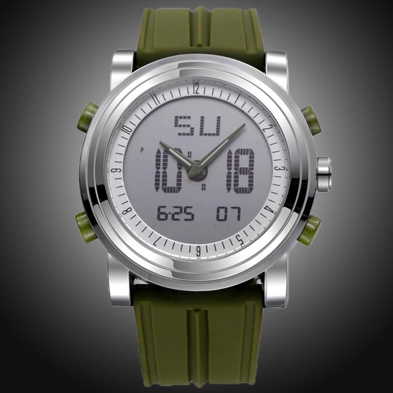 SINOBI Chronograph herren Sportuhren Digital Quarz Dual time display Wasserdichte Oberen Luxusmarke Männer Uhr gummiband