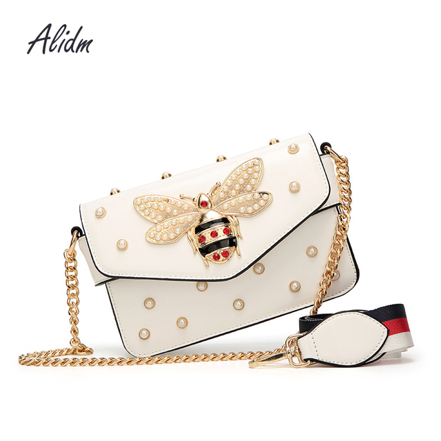 e873ced11 2018 New Bee Flap Rivet Crossbody Bag For Women Messenger Shoulder Bags  Women Handbags Purse Designer Famous Brand sac a main