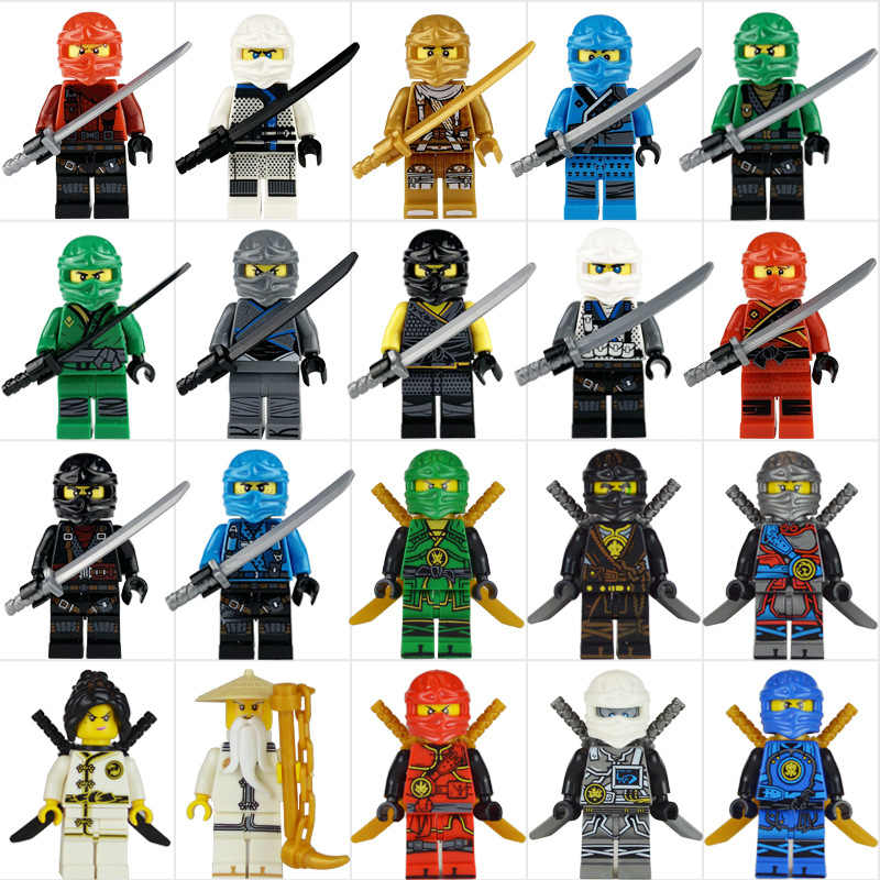 20pcs/lot Ninjago Movie Model Building Kits Blocks Sets Toy Mini Ninjagoed figure Kids Bricks Toys For Christmas Gifts