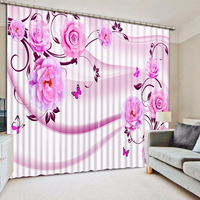 Modern Window Curtain Pink Curtains For S Room Rose Bedroom Living