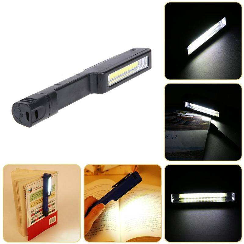 COB LED Magnetic Mini Hand Torch Pen Clip Work Light Inspection Repair Lamp Portable Flashlight Outdoor Camping Battery Power