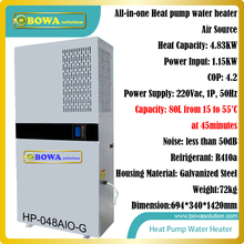 Free standing integrated heat pump suitable for home, villa, resturants and hotels, free installation & flexible combinations