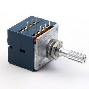 Image 5 - Lusya orijinal japonya ALPS RK27 çift ses potansiyometre 10k 50K 100k yuvarlak kolu hifi amplifikatör A9 013