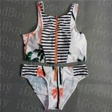 Summer Styles Women High Neck and High Waist Bikini Set Print Floral