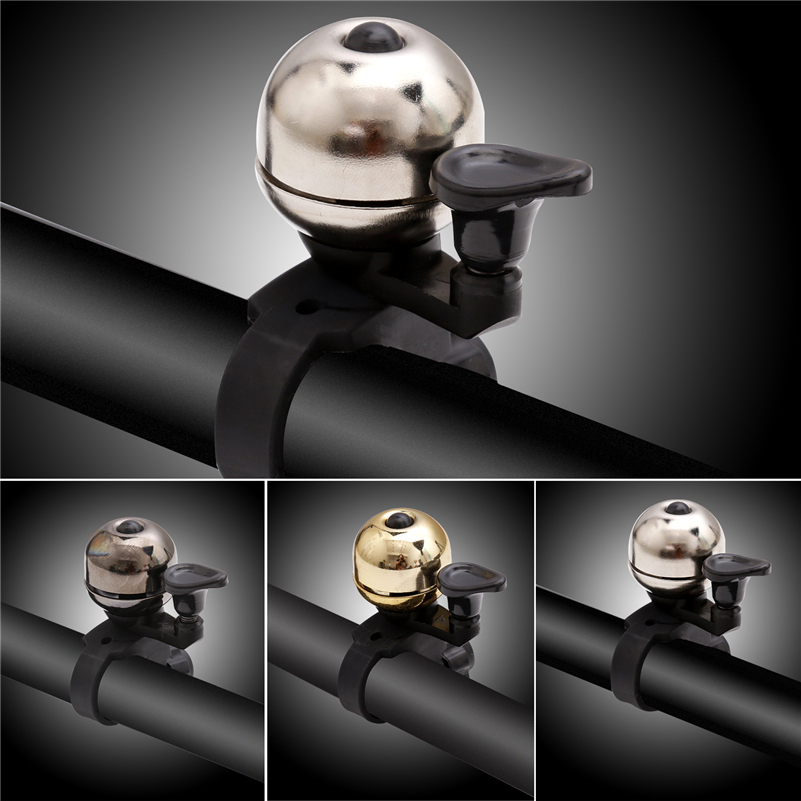 Bicycle Bell Cycling Handlebar Horn Ring Alarm Copper Safety Hooter Black