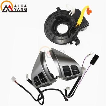 Nero/Argento Volante Pulsante di Controllo Audio Per Mitsubishi ASX 2007-2012 Outlander Auto-styling